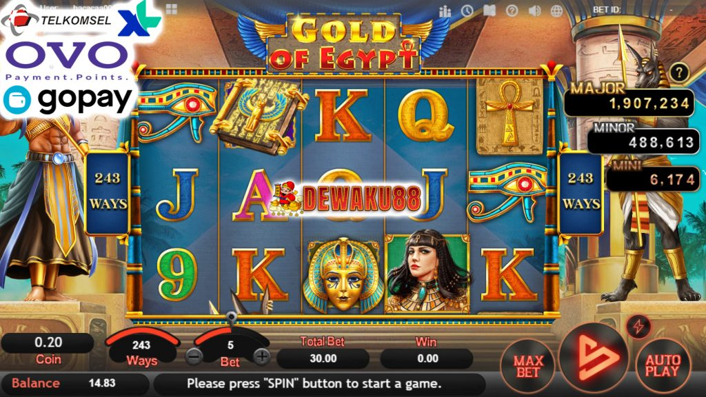 simple slot play gold of egypt