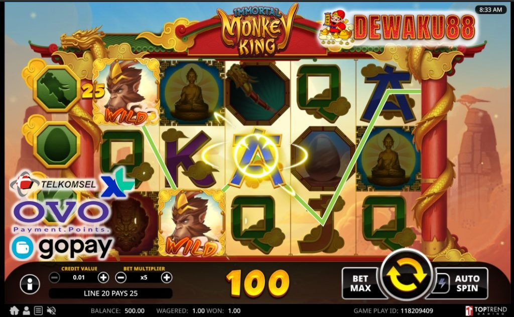 slot online immortal monkey