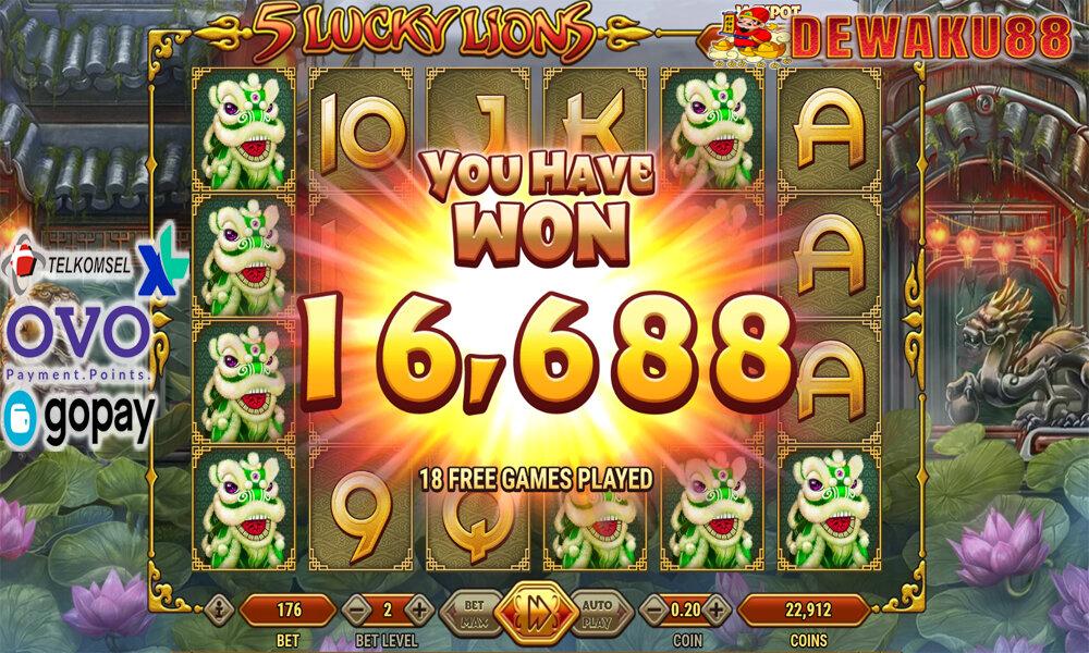 Slot Habanero 5 Lucky Lions