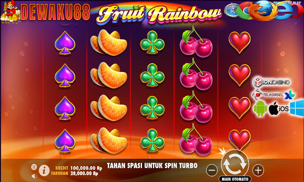 Slot Jackpot Fruit Rainbow